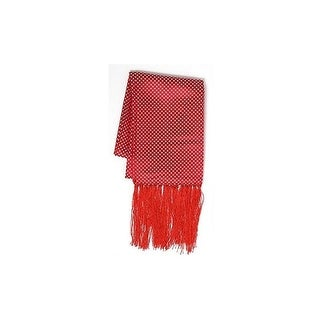 Cristoforo Cardi Men's Silk Polka Dot Formal Scarf One Size Fits - Red
