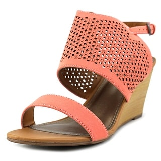 Madeline Modern Open Toe Synthetic Wedge Sandal