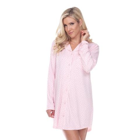 White Mark Women's Long Sleeve Nightgown