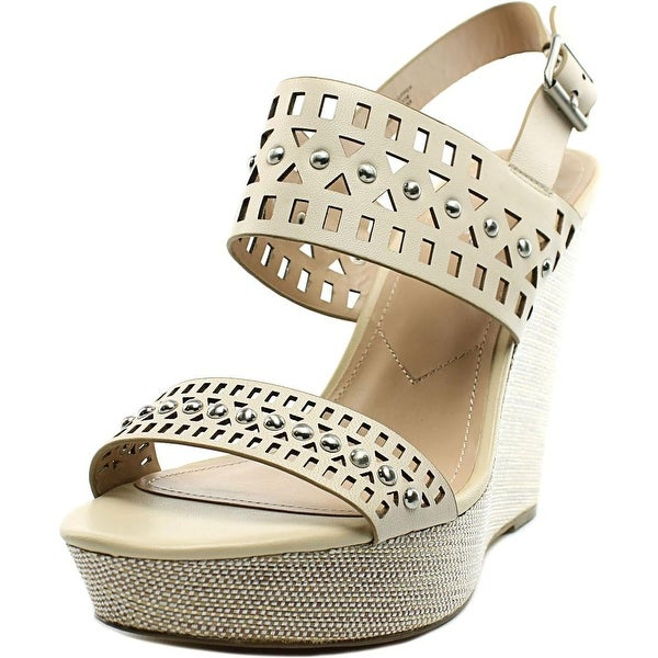 Charles By Charles David Aloof Open Toe Leather Wedge Sandal
