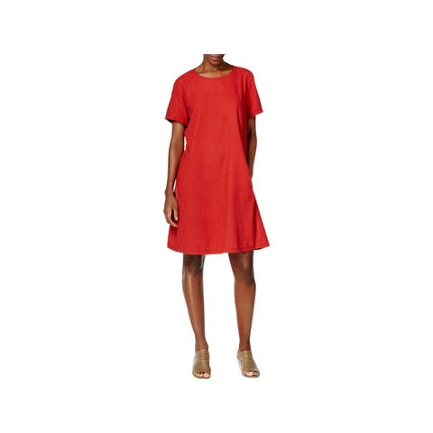 Eileen Fisher Womens Casual Dress Above Knee Silk