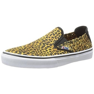 Skechers Womens The Menace Top Cat Woven Animal Print Fashion Loafers