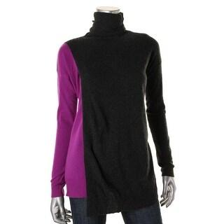 Autumn Cashmere Womens Cashmere Turtlneck Pullover Sweater