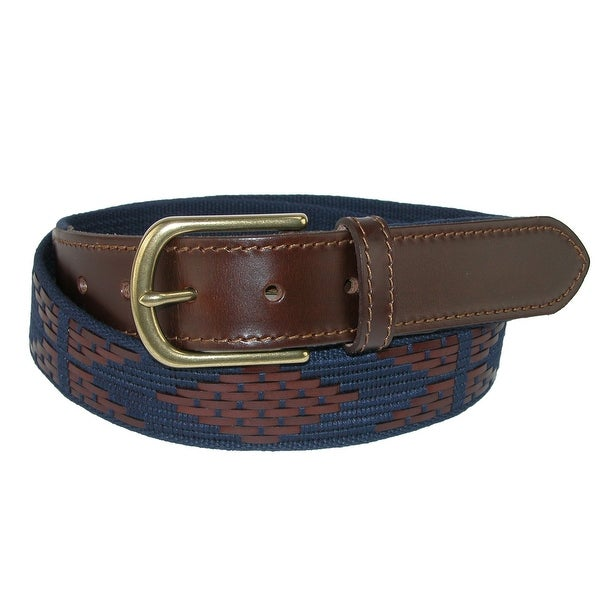 The British Belt Company Men's Walcot Aztec Woven Belt with Cord