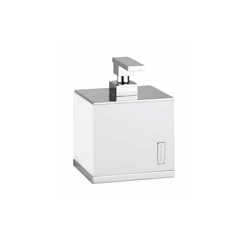 WS Bath Collections Demetra 1934 Modern Soap Dispenser from the Demetra Collection - White / Chrome