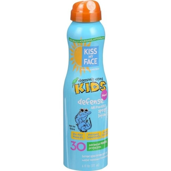 6 oz Sunscreen Mineral Continuous Spray Kids Defense, SPF 30