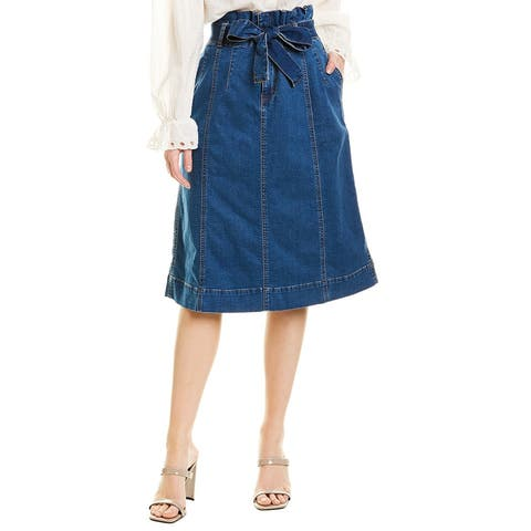Madewell Stretch Denim Paperbag Midi Skirt