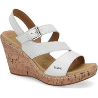 B.O.C Womens Schirra Leather Open Toe Casual Platform Sandals
