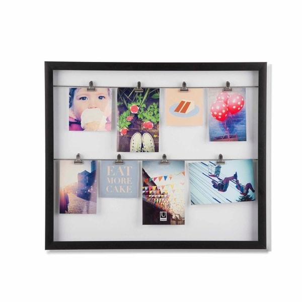"Umbra 311035-040 Clipline 20-1/2"" x 17-3/8"" Polystyrene Wall Mounted Picture Frame - Walnut"