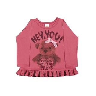 Baby Girl T-Shirt Long Sleeve Graphic Tee Newborn Infant Pulla Bulla 3-12 Months
