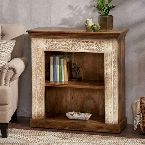 Molena Boho Handcrafted Mango Wood Bookcase by Christopher Knight Home