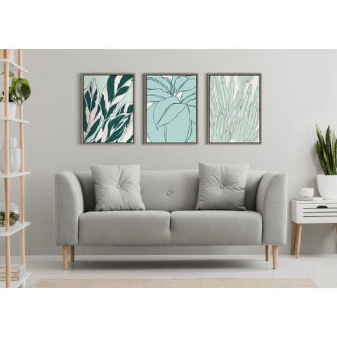 Kate and Laurel Sylvie Together Framed Canvas by Alicia Schultz