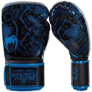 Venum Fusion Hook and Loop Training Boxing Gloves - Cyan Blue/Black
