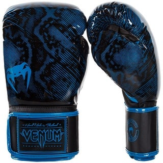 Venum Fusion Hook and Loop Training Boxing Gloves - Cyan Blue/Black