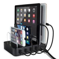 Desktop Quad Charger USB Docking Station - Apple(r) and Android(tm) Compatible