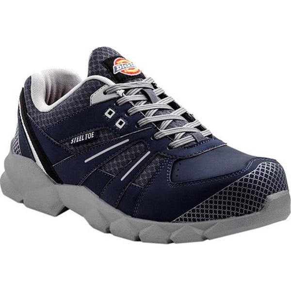 3c4b888a028 Dickies Men's Rook Athletic Steel Toe Work Shoe Blue Leather/Mesh/Microfiber