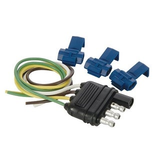 """Hopkins 48105 4-Wire Flat Trailer Connector, 12"""""""