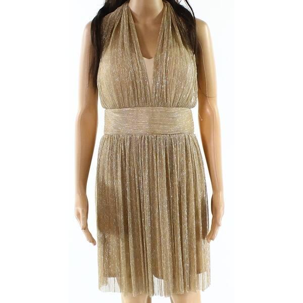 1c87191c Shop Alexia Admor NEW Gold Womens Size 12 Halter Shimmer Sheath ...