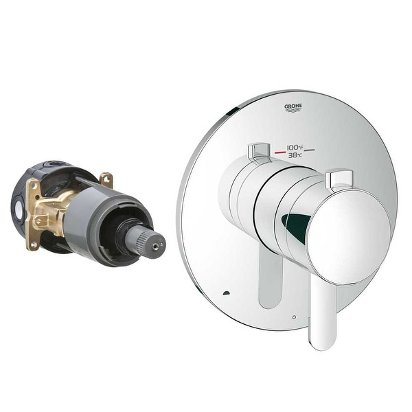 Grohe 19 878 Europlus / Cosmopolitan Dual Function Thermostatic Shower Trim with Integrated Volume Control and 2-Way Diverter