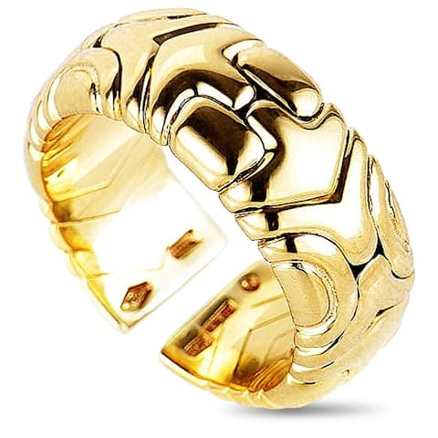 Bvlgari Alveare Yellow Gold Band Ring Size 6