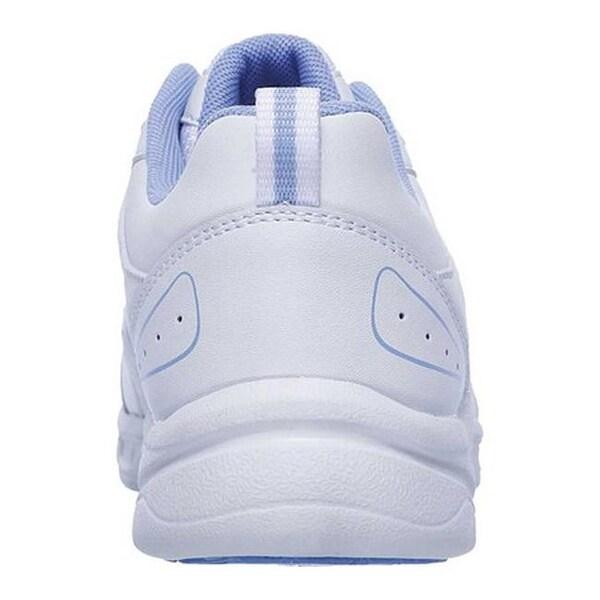 Shop Skechers Women's Mystics Sneaker WhiteBlue Overstock