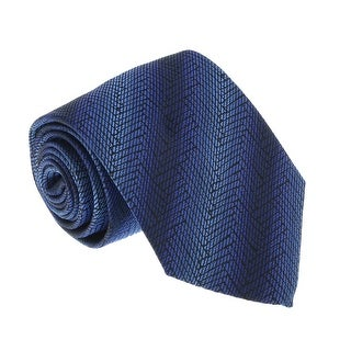 Missoni U4547 Blue/Black Graphic 100% Silk Tie - 60-3