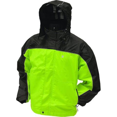 Frogg Toggs Mens Jacket Green Size Medium M Colorblock Full-Zip Hooded