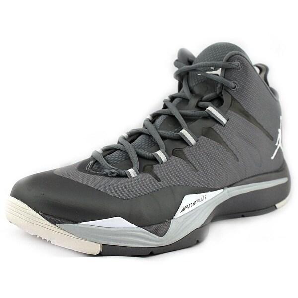 Jordan Super.Fly 2 Men Round Toe Canvas Gray Basketball Shoe