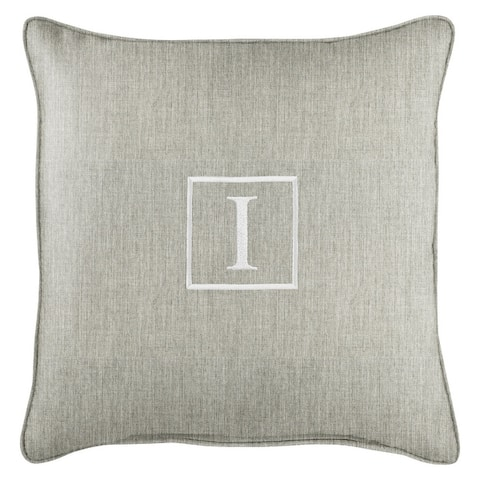 Monogram Corded Single Square Pillow by Havenside Home