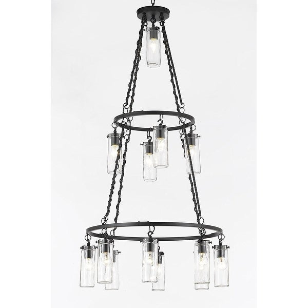 Chandelier 3 Tier Rustic Bronze Chandelier Lighting