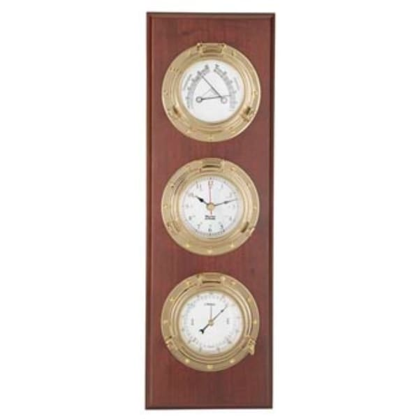"""8"""" Brown and Gold Contemporary Trysail Weather Center - N/A"""