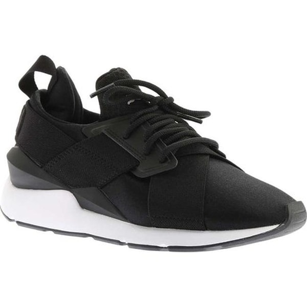 ecca1026f08 Shop PUMA Women s Muse Satin En Pointe Sneaker PUMA Black PUMA White ...