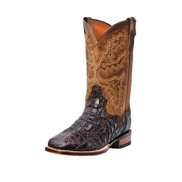 0ebc68852c3 Dan Post Western Boots Mens Cowboy Denver Caiman Chocolate