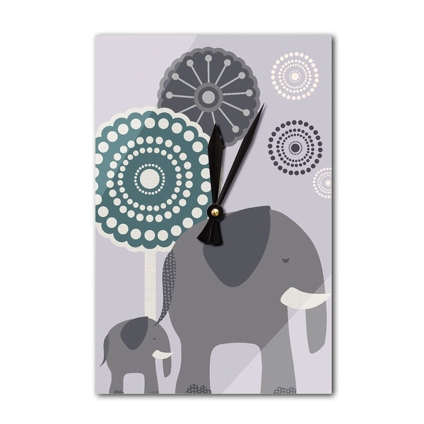 Simple Elephant - Purple - LP Artwork (Acrylic Wall Clock) - acrylic wall clock