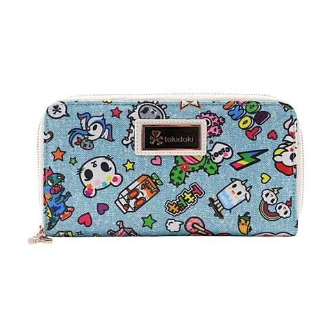 Tokidoki Denim Daze Full Zip Closure Long Wallet - One Size Fits most