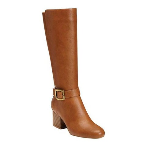 Aerosoles Women's Patience Knee High Boots Tan Faux Leather