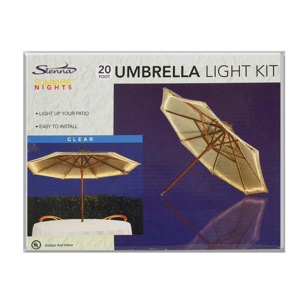 Sienna 6T414114 Umbrella Rope Light, 22', Clear