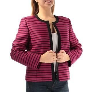 Womens Pink Black Wear To Work Jacket Size 12