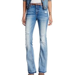 Vigoss NEW Blue Women's Size 29X34 Distressed Jagger Flare Jeans