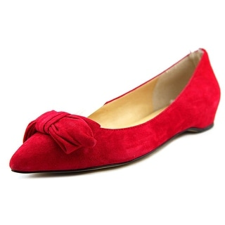 Ivanka Trump Catrina Women Pointed Toe Suede Red Flats
