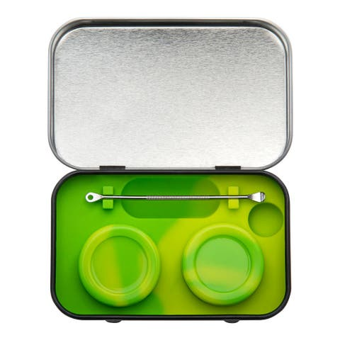 420 Focus Silicone Concentrate Containers with Scraper and Tin Case