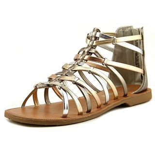 Very Cherry Harper Youth Open Toe Synthetic Bronze Gladiator Sandal