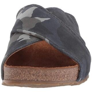 Haflinger Womens Marie Open Toe Casual Slide Sandals