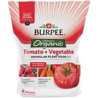 Burpee BP4TV Tomato & Vegetable Granules Plant Food, 4 Lbs, 3-6-4 Analysis