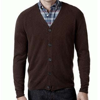 Weatherproof NEW Brown Espresso Mens 3XL Soft-Touch Cardigan Sweater