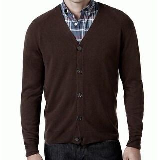 Weatherproof NEW Brown Espresso Mens Size Medium M Cardigan Sweater