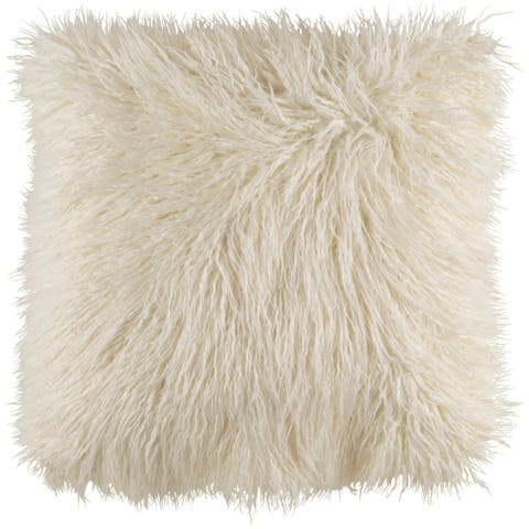 Decorative Pearland Ivory 22-Inch Throw Pillow Cover
