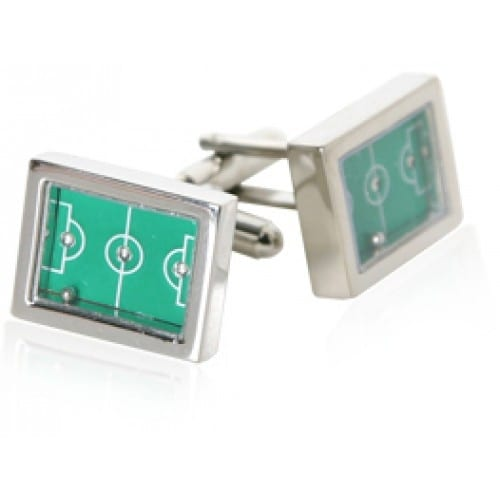 Soccer Game Sports Soccer Field Cufflinks