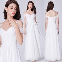 Ever-Pretty Women's Off Shoulder White Lace Wedding Dress Bridal Gown 07519