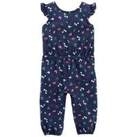 Carter's Baby Girls' Bird Flutter-Sleeve Jumpsuit, 3 Months